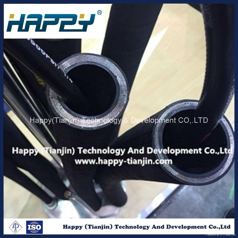 R9 Wire Reinforcement Flexible Industrial Hydraulic Rubber Hose 5
