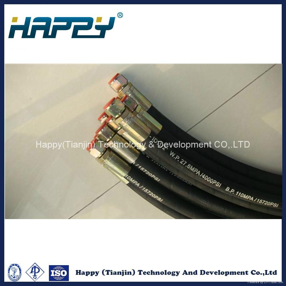 Chinese Hydraulic Rubber Hose Assembly Pipe Fitting 3