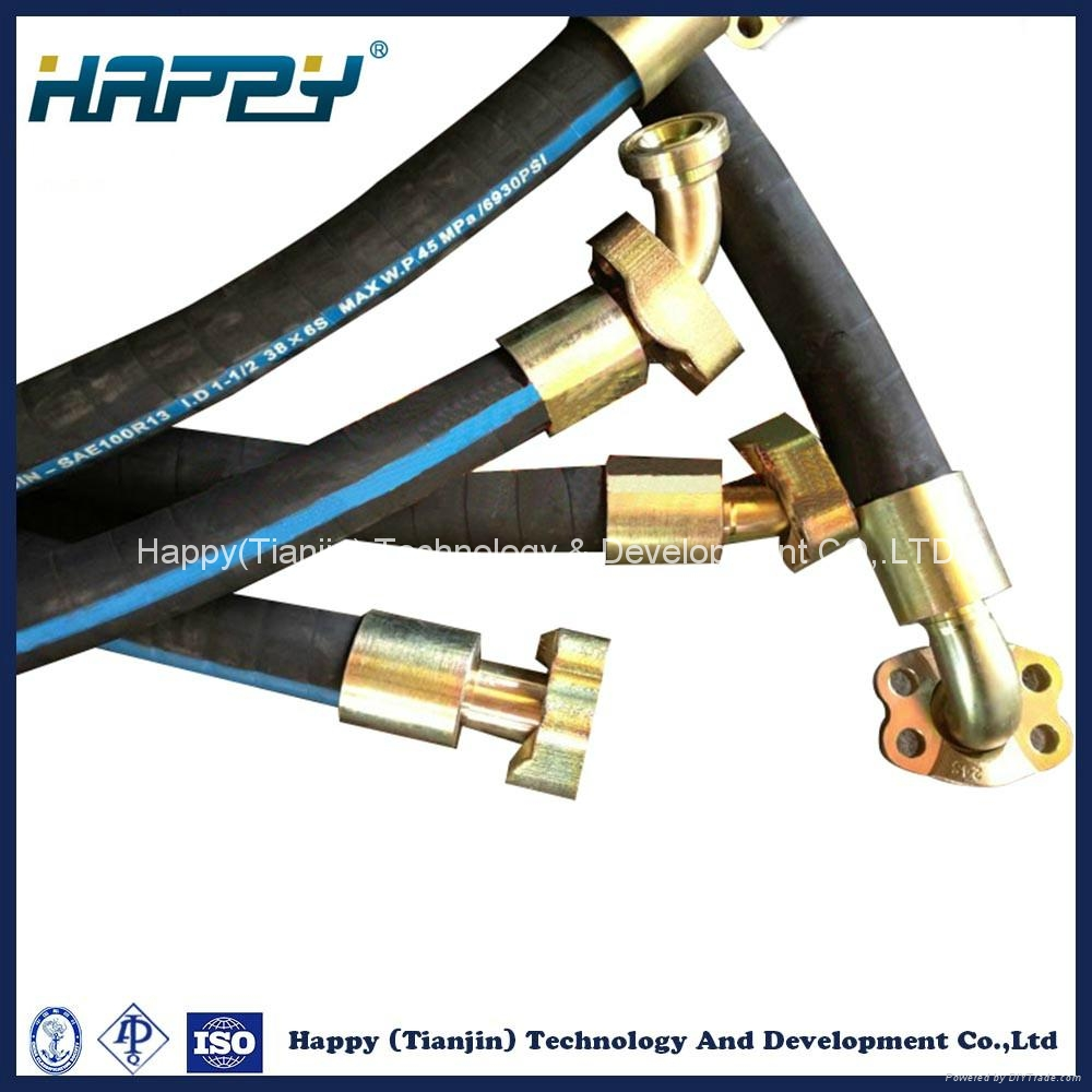 Chinese Hydraulic Rubber Hose Assembly Pipe Fitting 2