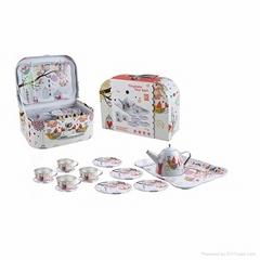 Chinese mini tea set toys (TIN TEAPOT SET)