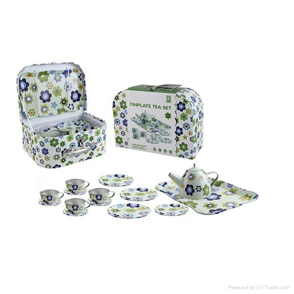 Chinese mini tea set toys (TIN TEAPOT SET) 4