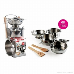 Stainless Steel Pretend Kitchen Set