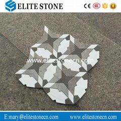 Hot Selling Fashion Design Flower Pattern Marble Mosaic Tile
