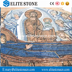 Handmade Mosaic Mural Religious Wall Tiles Decoration Marble Mosaic