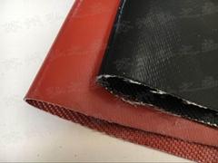 上海工地用雙面2.5硅膠防火布可裁剪