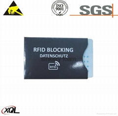 RFID Blocking Aluminum Chrome paper safety Sleeve Credit Card Protector