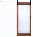 Wood Barn Door Slab with Sliding Barn Door Hardware 2