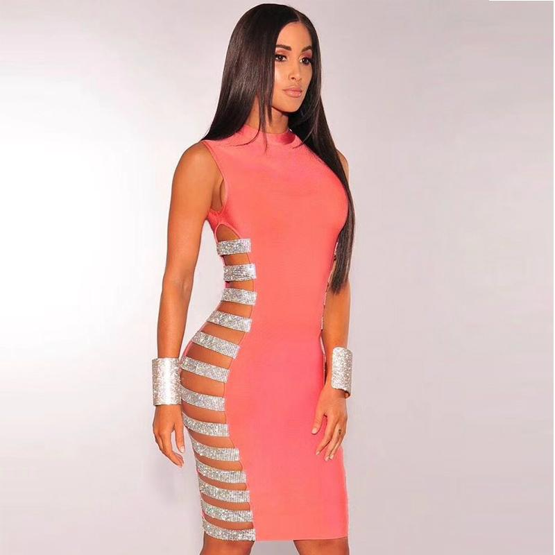 Cut out style women bandage dress, party dress in stock