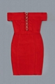 Red Off-Shoulder Cut-out Bandage Dress Party Dress 9