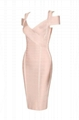 Royal V neck Side Bandage Dress Open Back Club Dress
