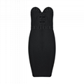 Strapless Bandage Dress Club Dress With Cross Details