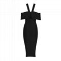Halter Midi Bandage Dress Stylish Party Dress