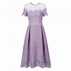 Good Quality Short Sleeves Skater Lace