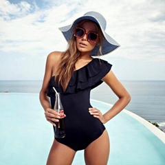 One Piece Black Bikini O