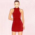 Round neck Close back Stylish Mini Bandage Dress