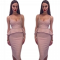 Straps Bandage Dress Two Pieces Ruffled