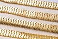 Long Sleeves Golden Bandage Dress Formal Dress