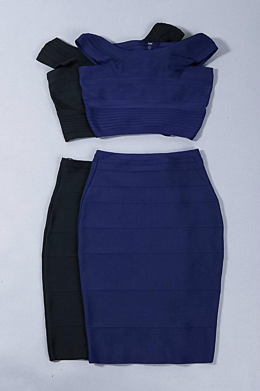 Two Pieces Off Shoulder Designer Party Dress 6