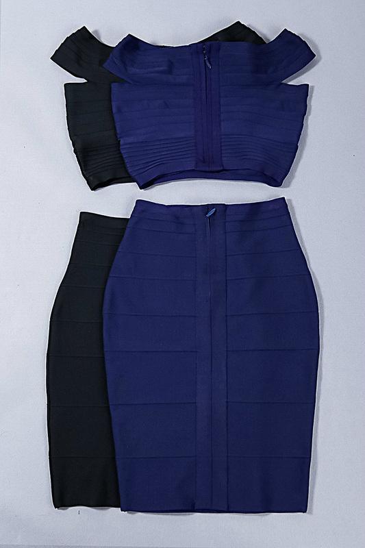 Two Pieces Off Shoulder Designer Party Dress 8