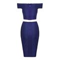 Two Pieces Off Shoulder Designer Party Dress 4