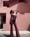 Stylish Two Pieces Jumpsuit with Sexy Top