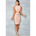 Two Pieces Bandage Dress with Crossed