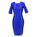 Luxurious Bandage Dress with Beads and Zippers Details 6