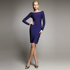 Classical Long Sleeves Bandage Dress for evening parties