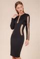 Paris style black bandage dress slim