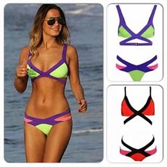 Multi Color Bikini Two P