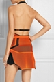 Halter Open Back Jacquard bandage dress
