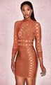 Sexy Cut Out Celebrity Bandage Dress Designer Dress