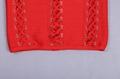 Off Shoulder Bandage Dress with Crossed Over Straps Details