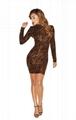 Women's Round Neck Long-Sleeved Dress