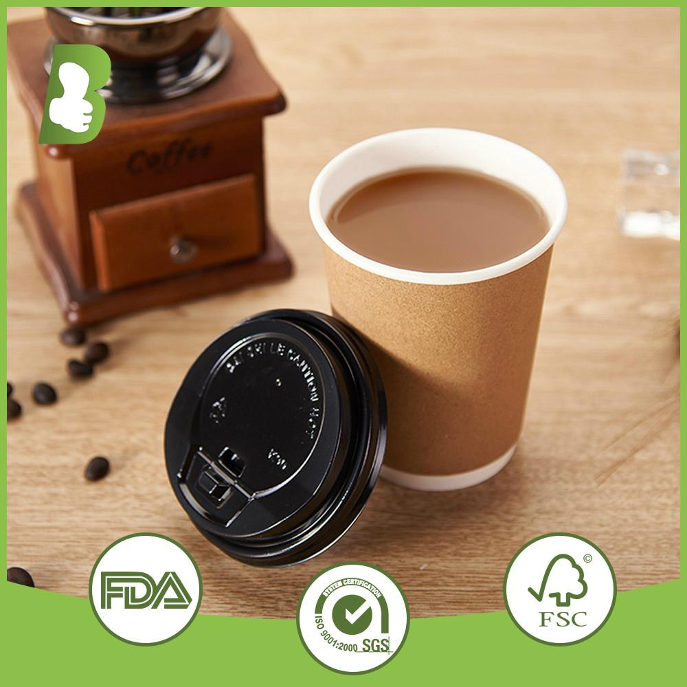 Custom logo printed double wall paper disposable cups 2