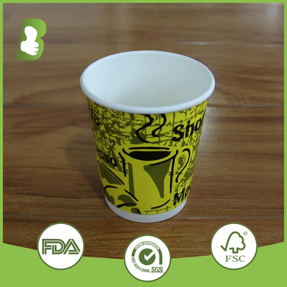 Custom logo printed double wall paper disposable cups 1