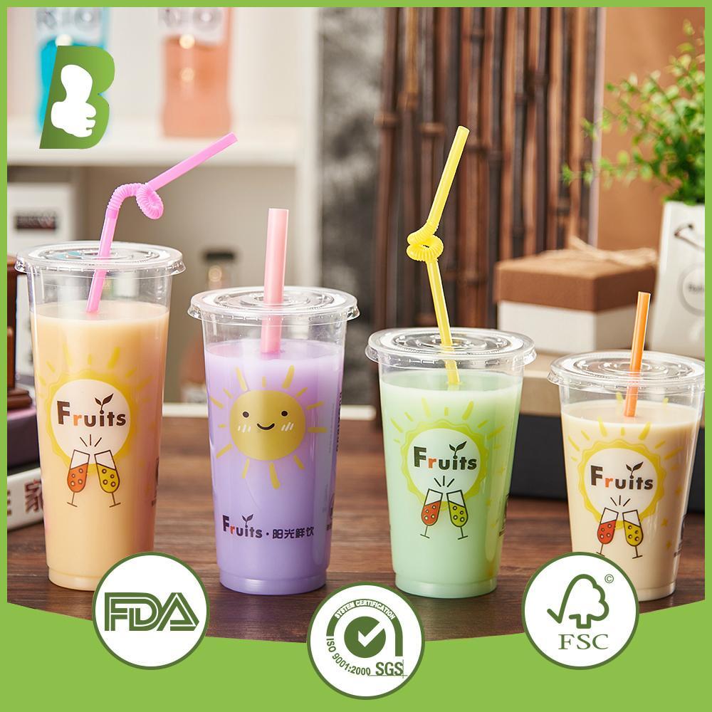 Custom logo printed disposable plastic cups 2