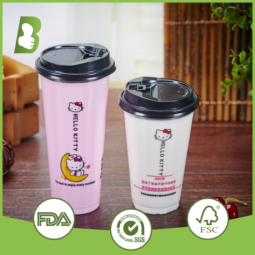 Custom logo printed disposable plastic cups 4