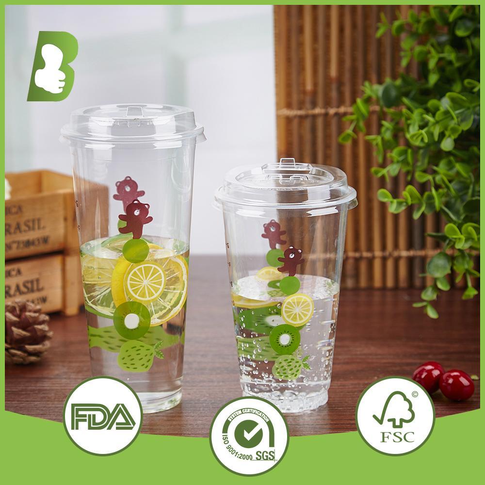 Custom logo printed disposable plastic cups 5