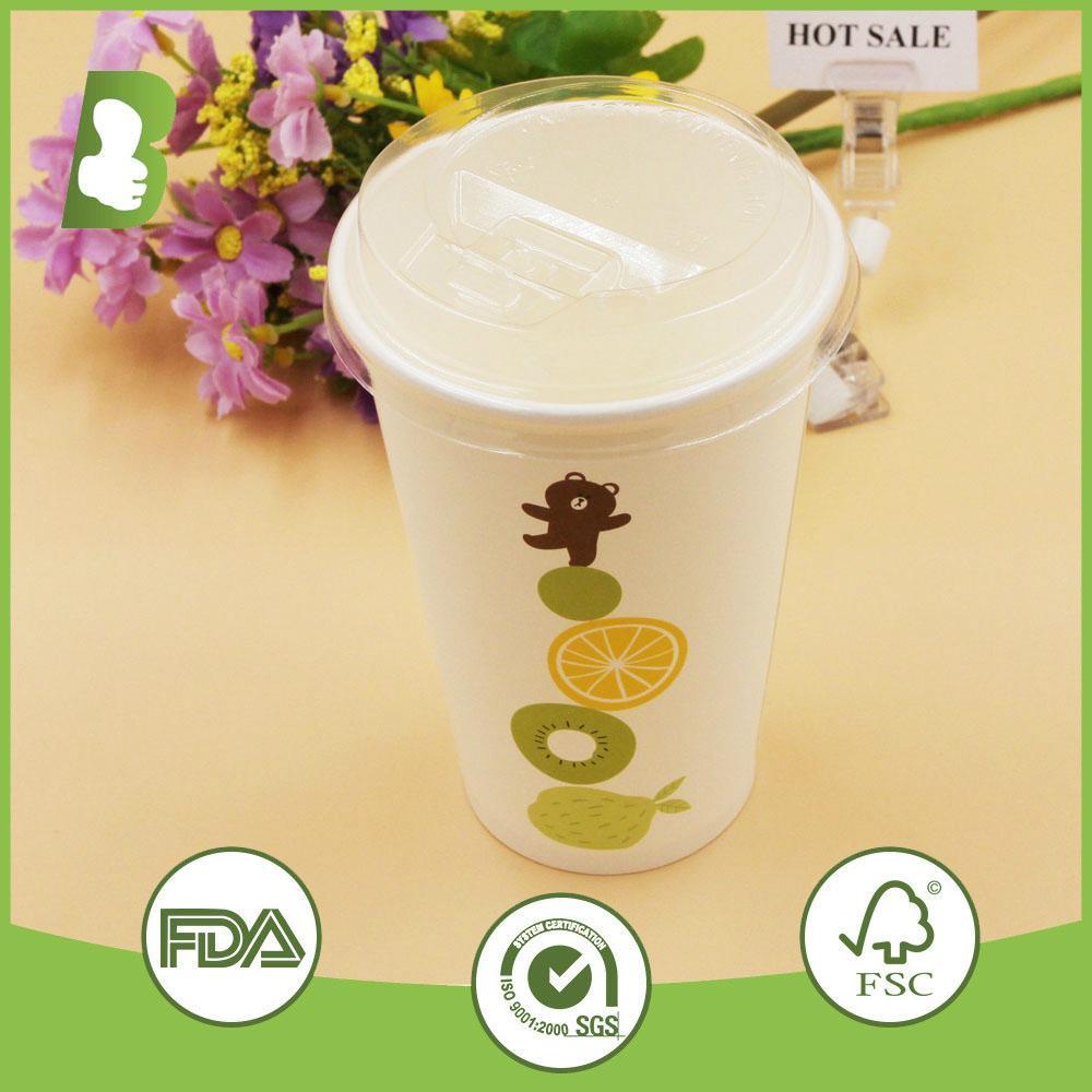 Custom logo printed paper disposable cups 2