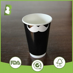 Eco-friendly  double wall paper disposable cups