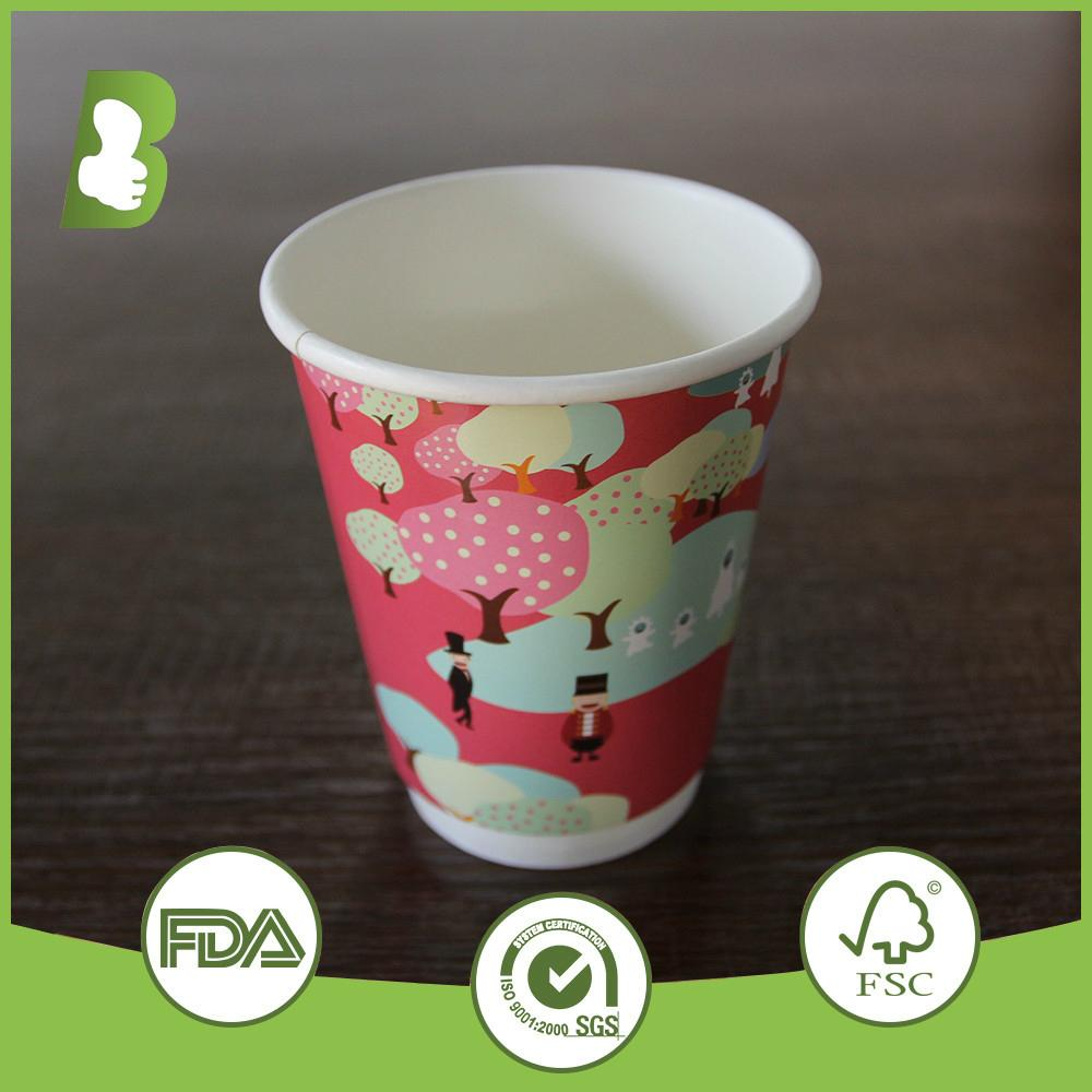 Eco-friendly  double wall paper disposable cups 2
