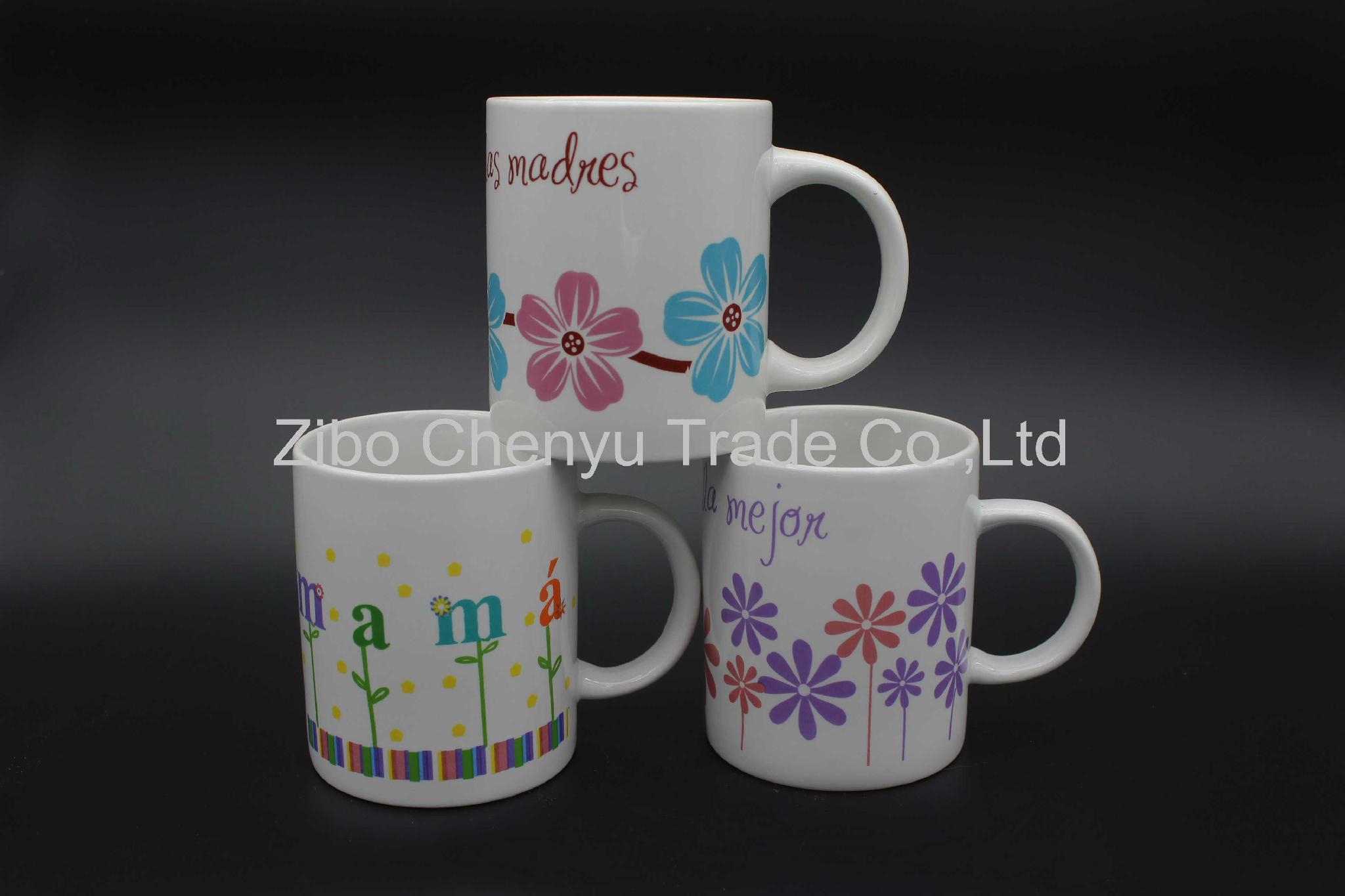 decal porcelain coffee mug gift product promotion can be OEM 1