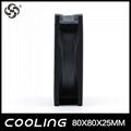 Axial Flow Fan 80X80X25mm 3.3V 5V 12V 24V  Factory Good Price 4