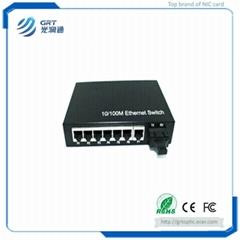 Beijing GRT 10/100/1000M Ethernet  7-RJ45 Port Single/Multi Mode Fiber Optical M