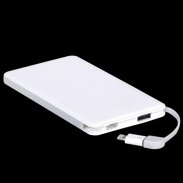 OEM usb charger power bank 5000mah mobile charger with built in cable