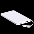 OEM usb charger power bank 5000mah mobile charger with built in cable 1