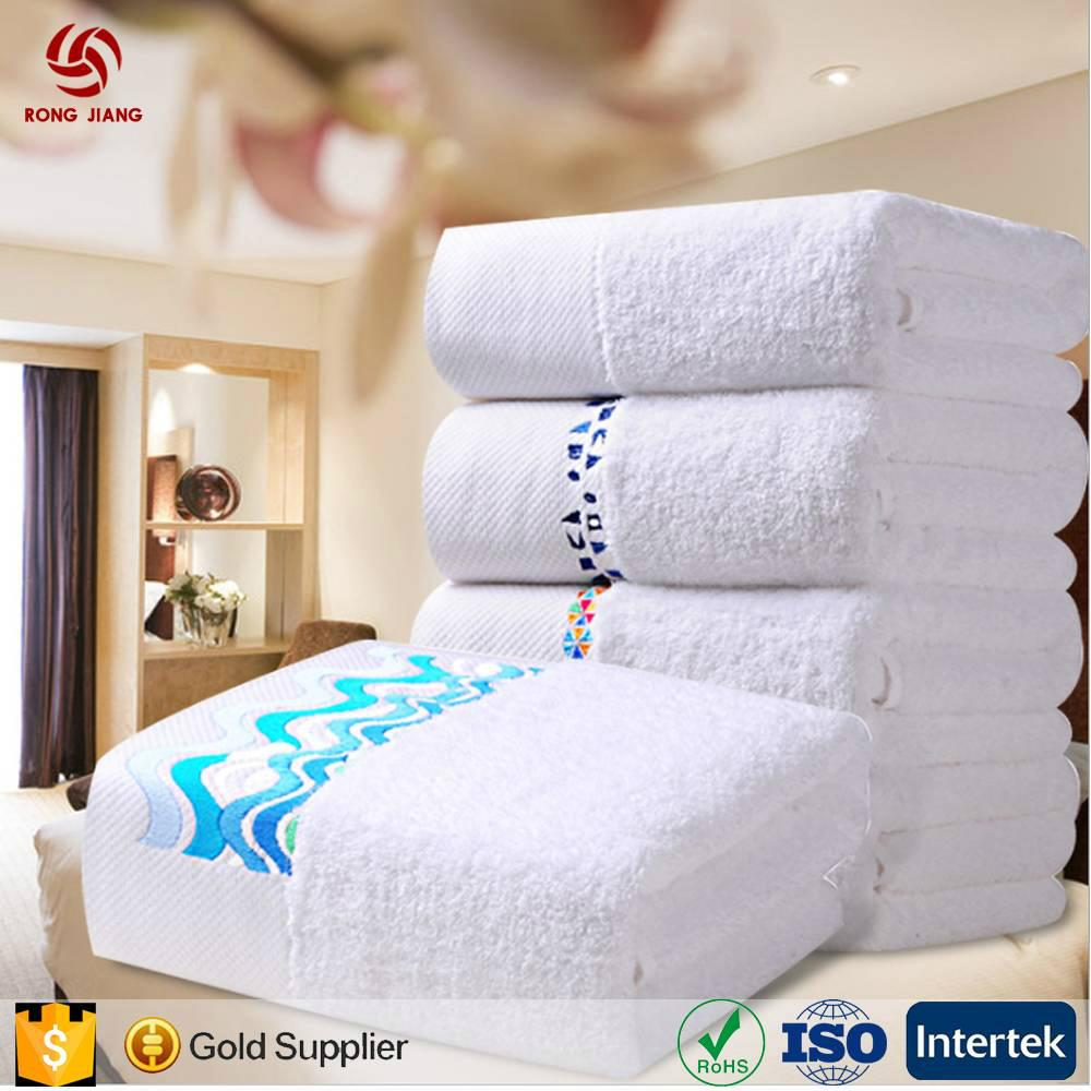 China Factory Provide 100% Cotton Hotel White bath Towel for 5 Star Hotel with F 2