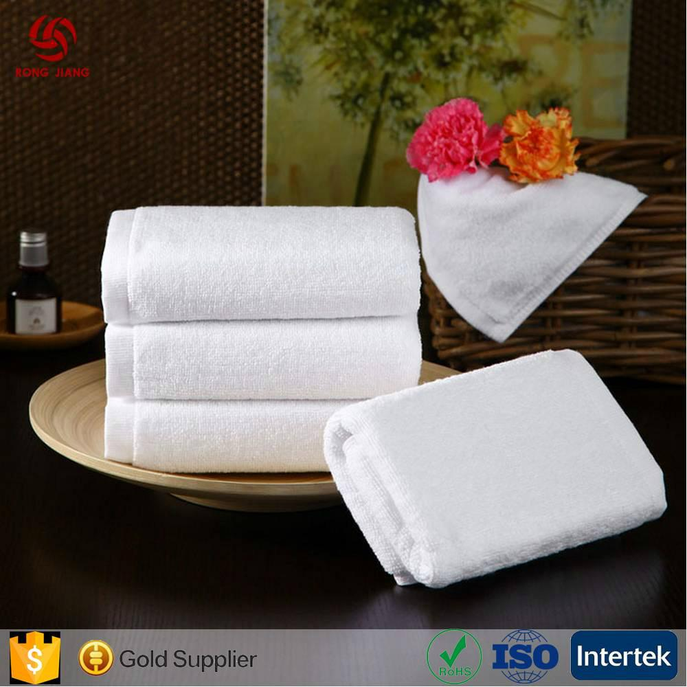 China Factory Offer High Quality 100% Cotton White Towels With Customer Design a 4