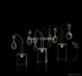 Acrylic earrings hangging display rack